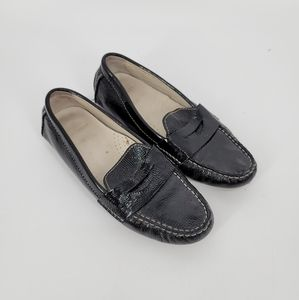 Cole Haan Black Patent Leather Penny Loafers 6